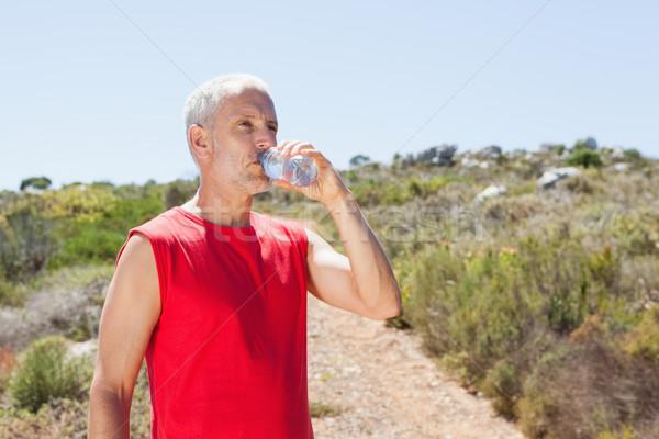 Uygun adam içme suyu dağ iz Stok fotoğraf © wavebreak_media