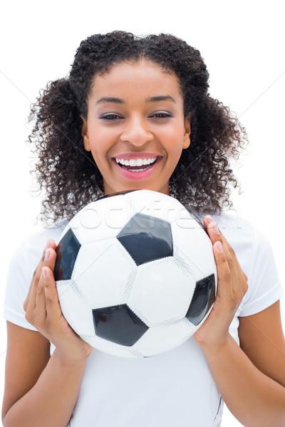 Bastante futebol ventilador branco bola Foto stock © wavebreak_media