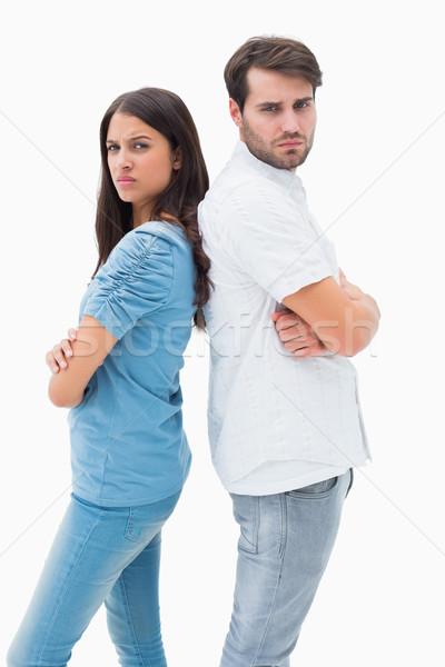 Ontdaan paar niet praten ander strijd Stockfoto © wavebreak_media