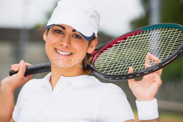 かなり 笑みを浮かべて カメラ スポーツ ストックフォト © wavebreak_media