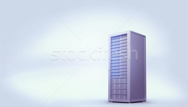 Digitally generated grey server tower Stock photo © wavebreak_media