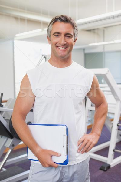 Dopasować uśmiechnięty kamery fitness studio Zdjęcia stock © wavebreak_media