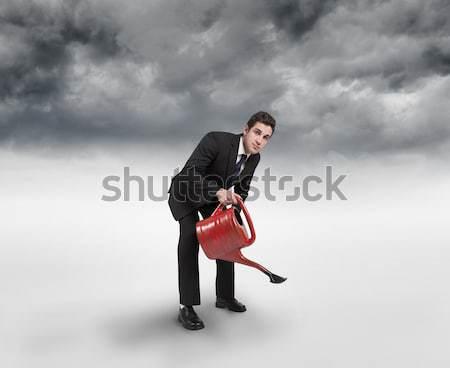 Endişeli işadamı kafa eller beyaz adam Stok fotoğraf © wavebreak_media