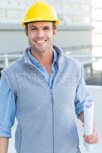 улыбаясь мужчины архитектора план портрет Сток-фото © wavebreak_media