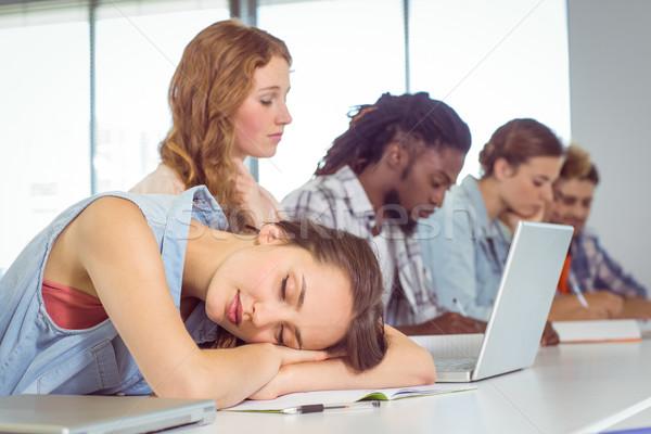 Student dozing during a class Stock photo © wavebreak_media