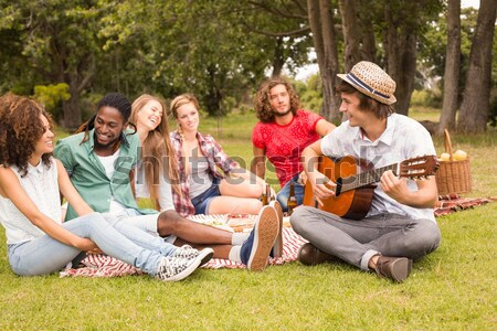 Happy friends in the park having picnic Stock photo © wavebreak_media