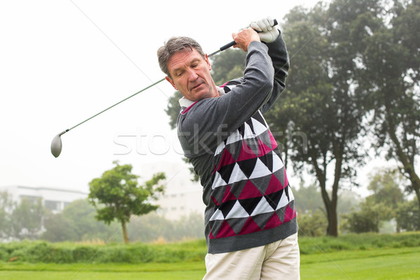 Golfeur club brumeux jour golf sport Photo stock © wavebreak_media