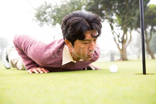Golfeur balle trou golf sport vert Photo stock © wavebreak_media