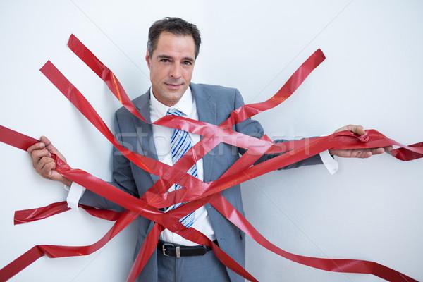ビジネスマン 閉じ込められた 白 ビジネス 男 ストックフォト © wavebreak_media