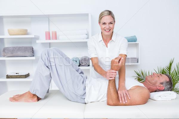 Сток-фото: врач · пациент · руки · медицинской · служба