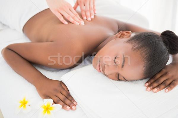 Pretty woman massaggio donna mani Foto d'archivio © wavebreak_media