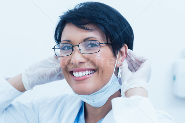Portrait souriant Homme dentiste jeunes Photo stock © wavebreak_media