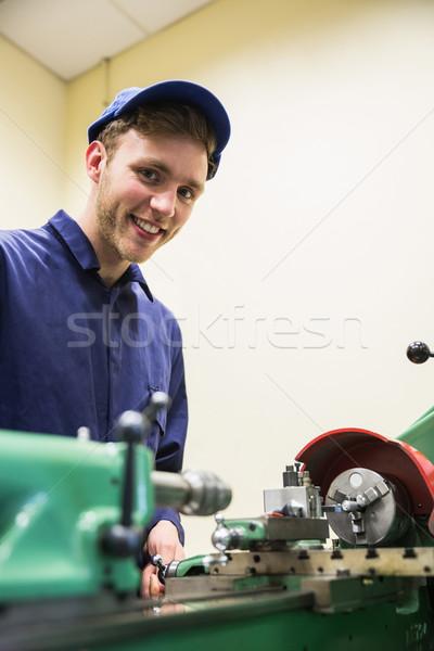 Inżynierii student ciężki maszyn uczelni szkoły Zdjęcia stock © wavebreak_media