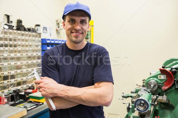 Engineering Studenten lächelnd Kamera Universität Mann Stock foto © wavebreak_media