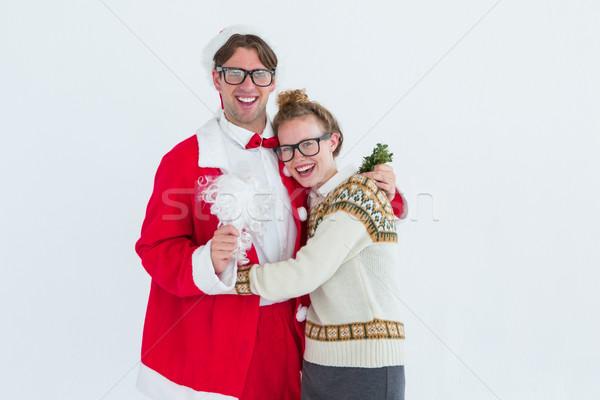 Święty mikołaj kostium sympatia biały Zdjęcia stock © wavebreak_media