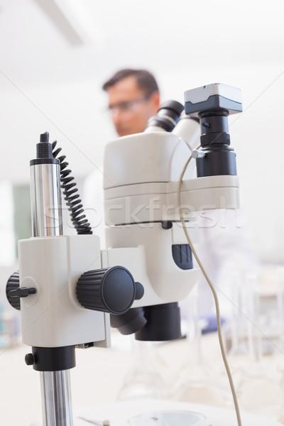 Mikroskop tablo bilim adamı laboratuvar tıbbi laboratuvar Stok fotoğraf © wavebreak_media