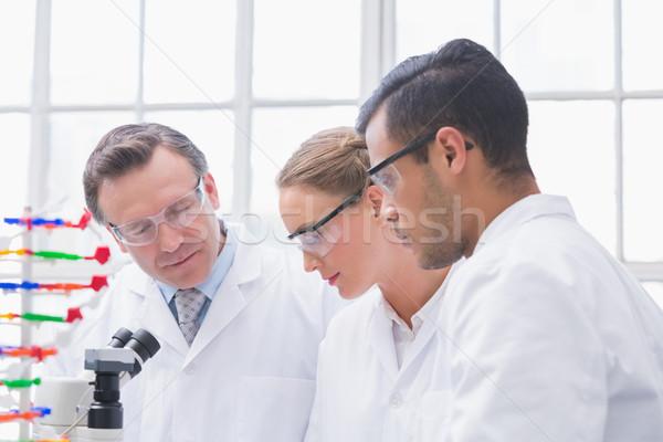 Wetenschappers laboratorium vrouw technologie lab Stockfoto © wavebreak_media