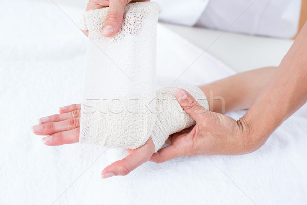 Orvos beteg csukló orvosi iroda nő Stock fotó © wavebreak_media