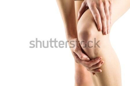 Femme genou blessure blanche corps douleur Photo stock © wavebreak_media