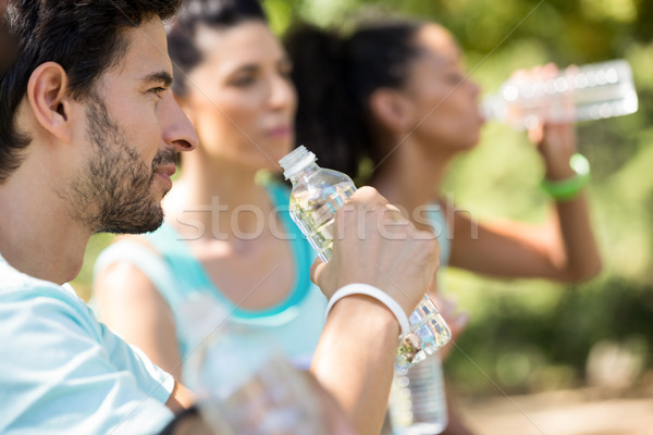 Maraton su su parkı kadın doğa Stok fotoğraf © wavebreak_media