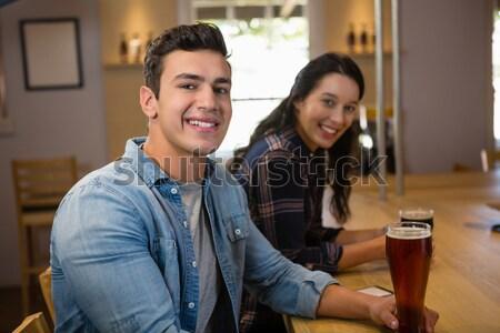 Portrait of couple toasting wine glasses Stock photo © wavebreak_media