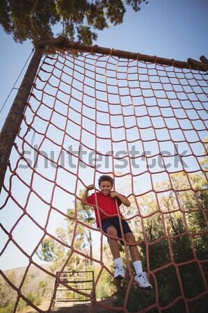 Stok fotoğraf: Erkek · tırmanma · net · eğitim · çizme