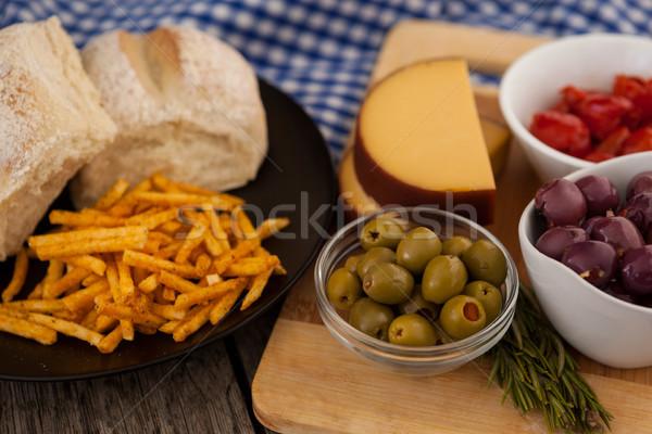 Brood olijven groenten Stockfoto © wavebreak_media