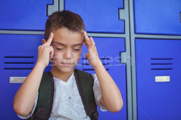 мальчика страдание головная боль ребенка студент безопасности Сток-фото © wavebreak_media