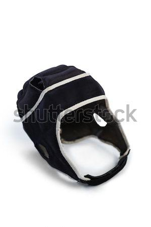 Magasról fotózva kilátás rögbi sisak fehér sport Stock fotó © wavebreak_media