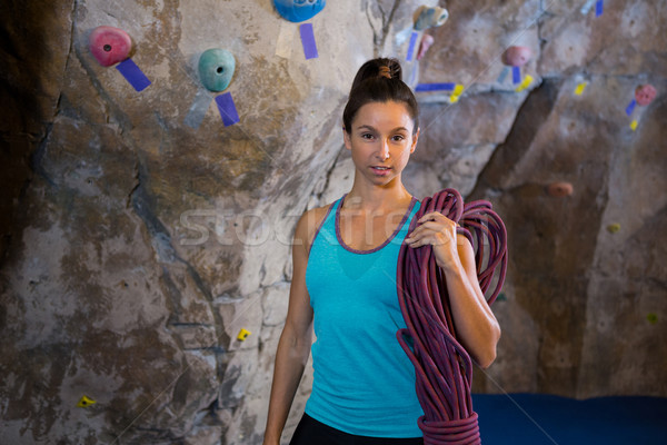 Woman holding rope in fitness studio Stock photo © wavebreak_media