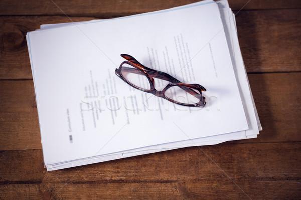 мнение очки документы таблице служба Сток-фото © wavebreak_media