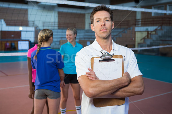Confiance Homme coach permanent tribunal portrait Photo stock © wavebreak_media