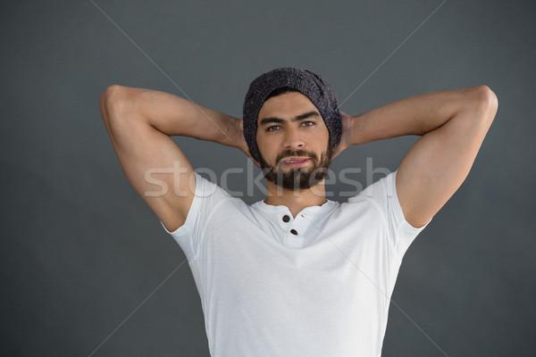 портрет человека Постоянный рук за назад Сток-фото © wavebreak_media