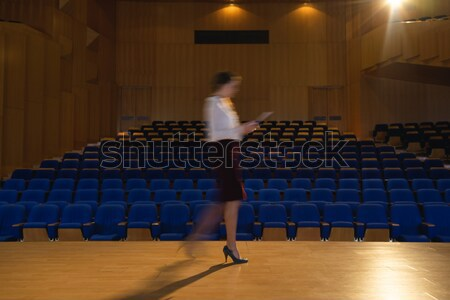 Woman jogging in stadium Stock photo © wavebreak_media