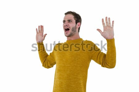 Hipster man screaming Stock photo © wavebreak_media