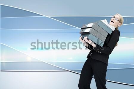 Biznesmen czasu spaceru biały młodych działalności Zdjęcia stock © wavebreak_media