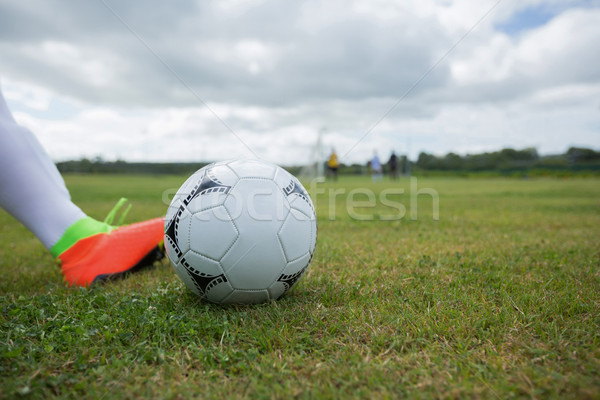 Pronto calci soccer ball terra erba Foto d'archivio © wavebreak_media