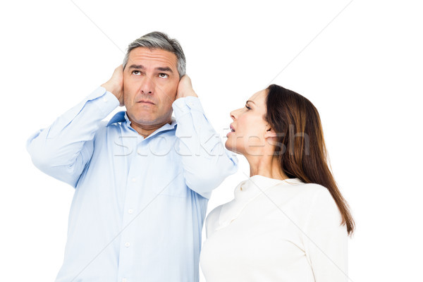 Angry couple arguing and ignoring each other Stock photo © wavebreak_media