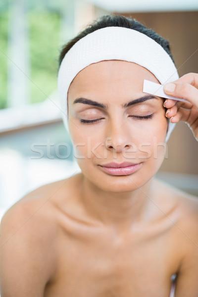 Mulher cara depilação com cera estância termal Foto stock © wavebreak_media