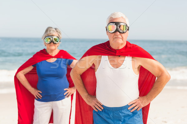 Senior couple wearing superman costume Stock photo © wavebreak_media
