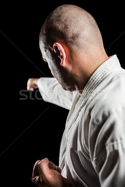 Fighter performing karate stance Stock photo © wavebreak_media