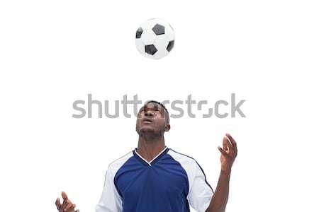 спортсмен играет волейбол белый фитнес мяча Сток-фото © wavebreak_media