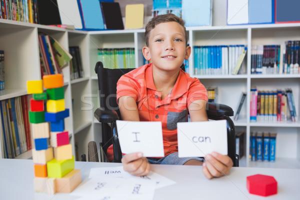 инвалидов мальчика плакат можете библиотека Сток-фото © wavebreak_media