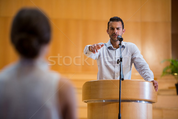 Business executive pointing towards audience Stock photo © wavebreak_media