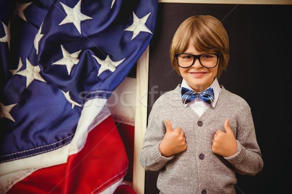 Composite image of cute pupil dressed up as teacher Stock photo © wavebreak_media