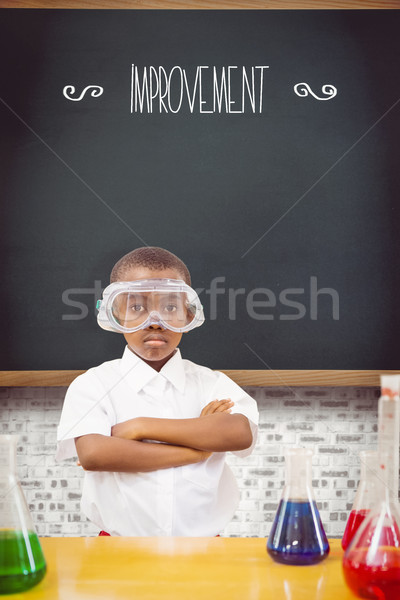 Improvement against teal Stock photo © wavebreak_media