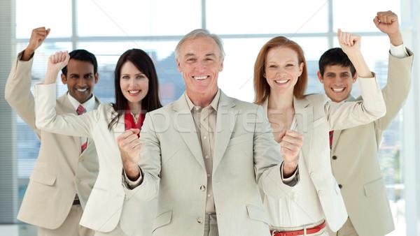 Di successo business internazionale persone business costruzione mano Foto d'archivio © wavebreak_media