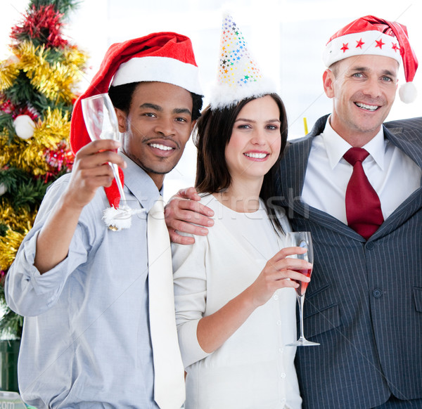 United business team drinking champagne to celebrate christmas Stock photo © wavebreak_media
