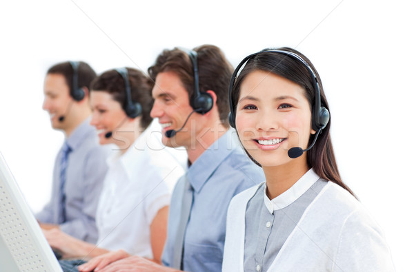 Young business people in a call center Stock photo © wavebreak_media