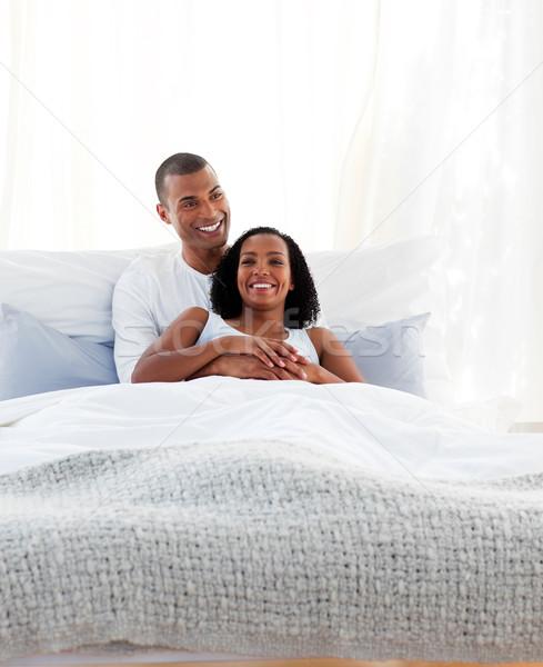 интимный пару кровать любви девушки Сток-фото © wavebreak_media
